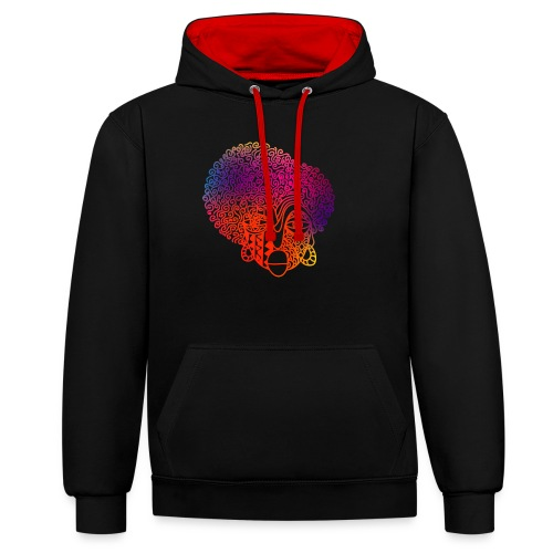 Remii - Contrast Colour Hoodie