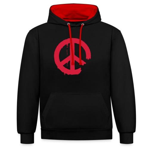 PEACE - Kontrast-Hoodie