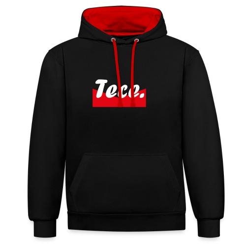 Tece red logo Sweater - Kontrast-Hoodie