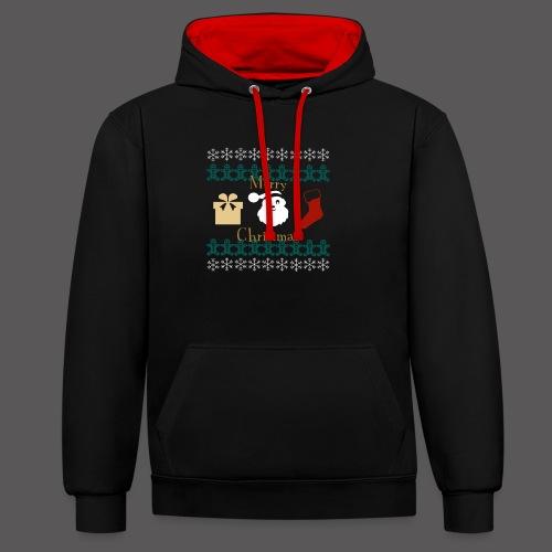 Merry Christmas - Kontrast-Hoodie