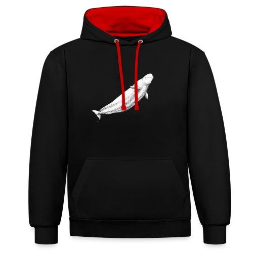 Beluga - Sudadera con capucha en contraste