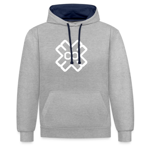 d3eplogowhite - Contrast Colour Hoodie
