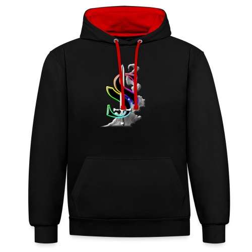 Solarian S Logo - Contrast Colour Hoodie
