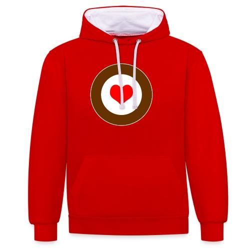 HEART - Kontrast-Hoodie