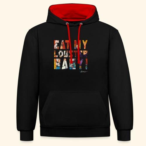 EAT MY LOBSTER T SHIRTS TEKST - Contrast hoodie
