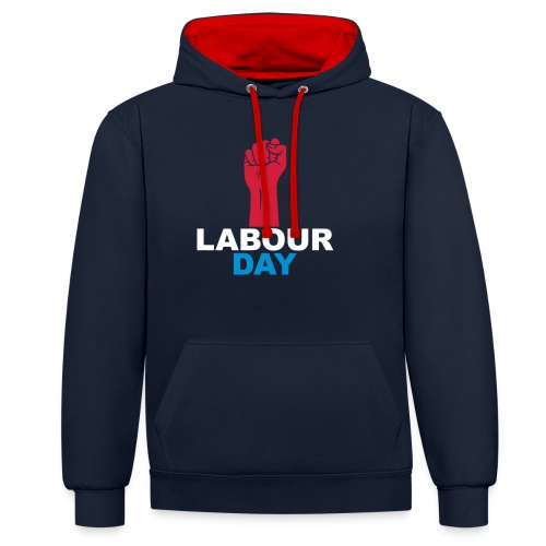 Labour day - Contrast Colour Hoodie