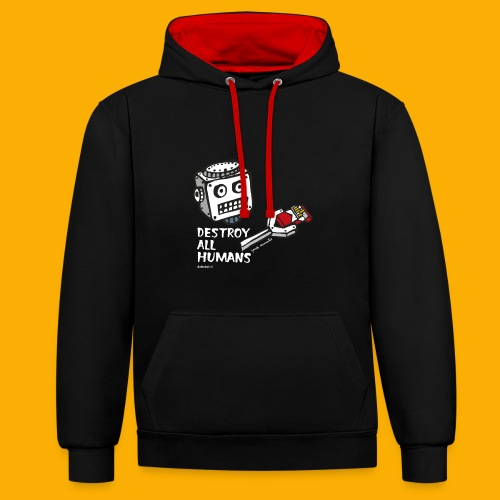 Dat Robot: Destroy Series Smoking Dark - Contrast hoodie