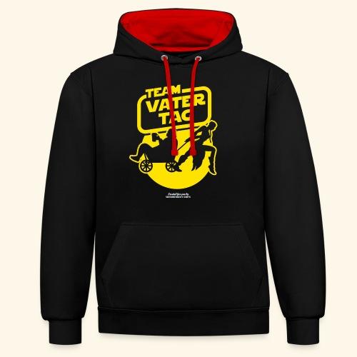Vatertags T Shirt Team Vatertag - Kontrast-Hoodie