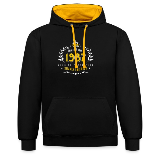 original since 1987 simply the best 30th birthday - Contrast Colour Hoodie
