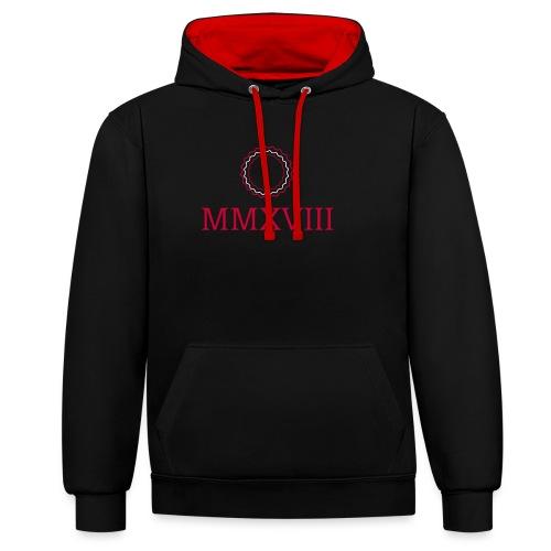 MMXVIII - logo - Sweat-shirt contraste