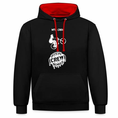 For Crew Member - Kontrast-Hoodie