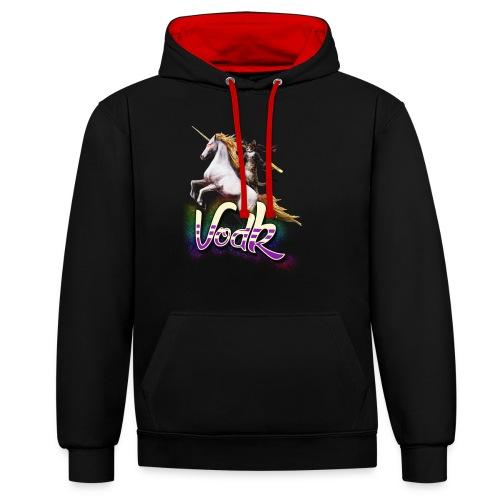 VodK licorne png - Sweat-shirt contraste