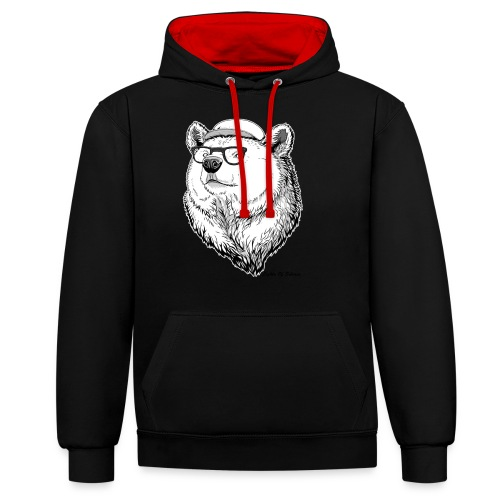 Lights Of Siberia - Contrast Colour Hoodie