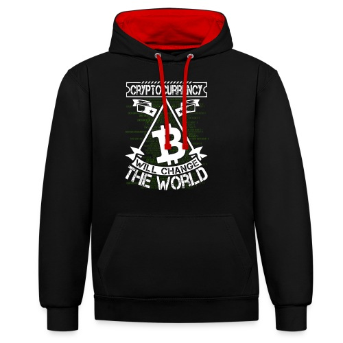 cryptocurrency - Contrast hoodie