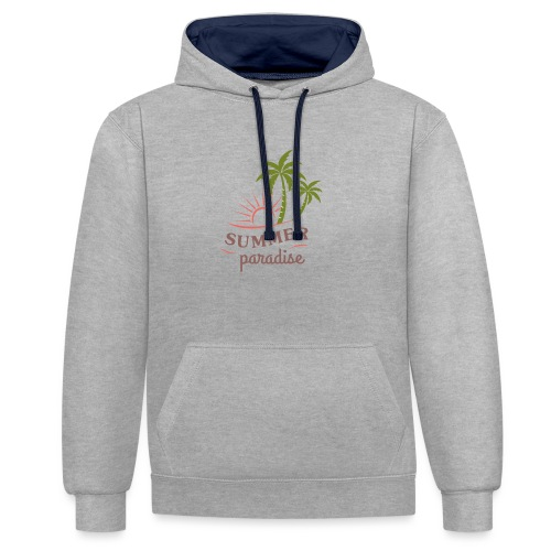 Summer paradise - Contrast Colour Hoodie