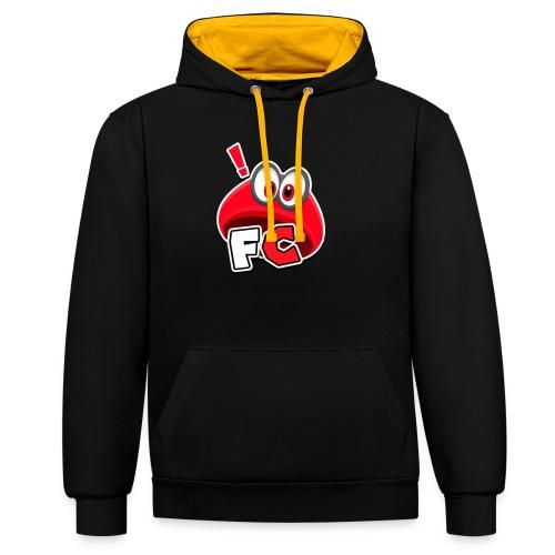 Flying Cappys Logo! - Kontrast-Hoodie