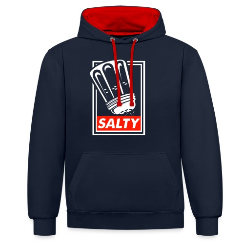 Salty white - Contrast Colour Hoodie