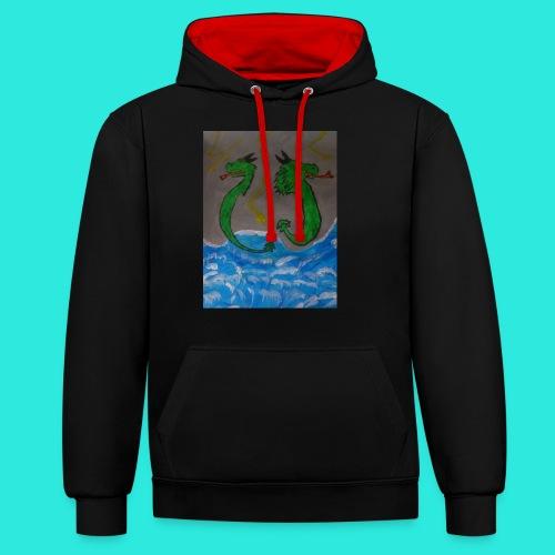 Waterdragons_in_the_thunder- - Contrast hoodie