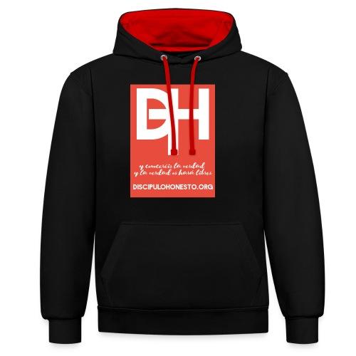 Camiseta Oficial DiscipuloHonesto.org - Sudadera con capucha en contraste