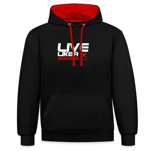 Men - Live like A Warrior Shirt - Contrast hoodie