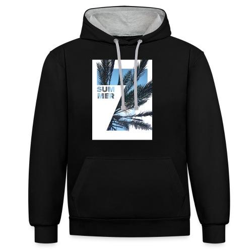 Summertime - Contrast hoodie
