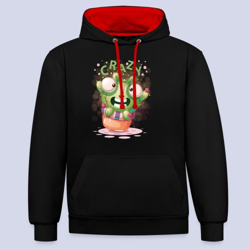 Crazy funny monster design for everyone - Contrast Colour Hoodie