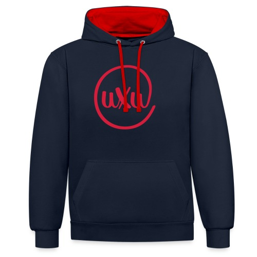 UXU logo round - Contrast Colour Hoodie