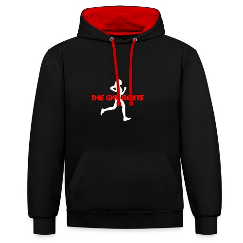 THE GYM BEATS - Music for Sports - Kontrast-Hoodie
