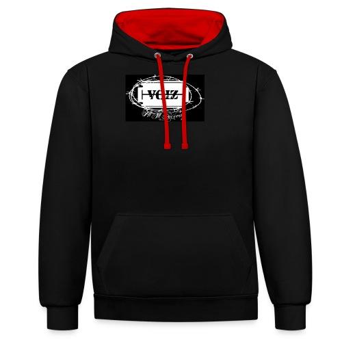 VOIZ schwarzes shirt - Kontrast-Hoodie