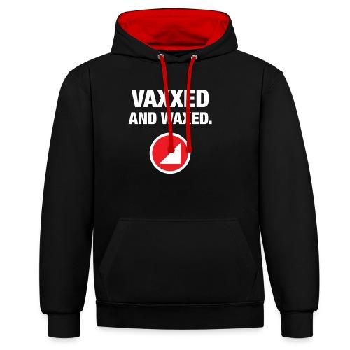 VAXXED - Sudadera con capucha en contraste