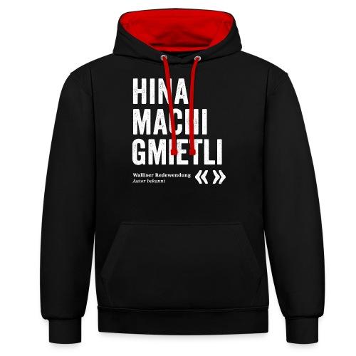 HINA MACHI GMIETLI - Kontrast-Hoodie