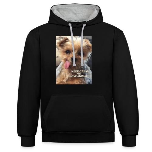 Dog - Kontrast-Hoodie