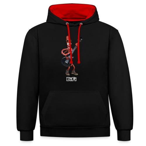 BiFi T-Shirt Men - Contrast Colour Hoodie