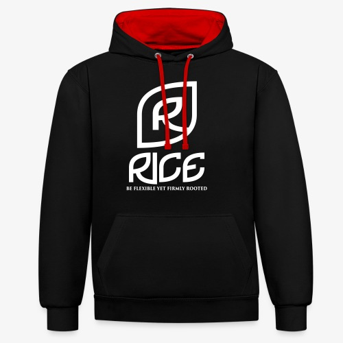 rice vector - Contrast hoodie