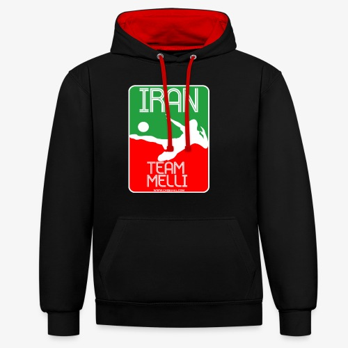 Iran Team Melli - Kontrast-Hoodie