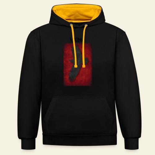 ravneflaget viking - Kontrast-hættetrøje