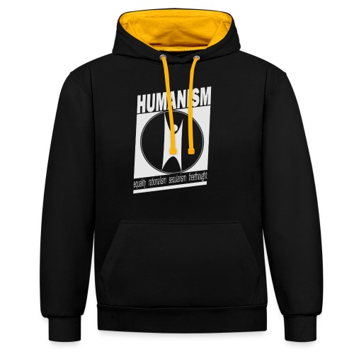 Humanism - Contrast Colour Hoodie
