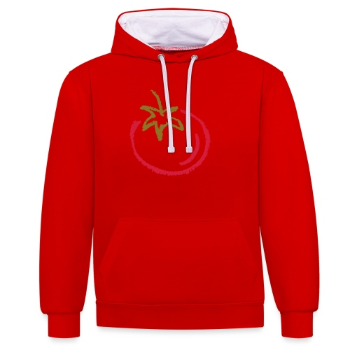tomato 1000points - Contrast Colour Hoodie