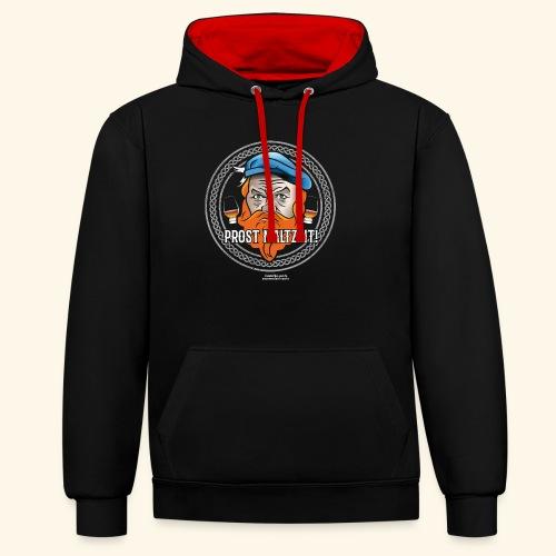 Whisky T Shirt Design Prost Maltzeit - Kontrast-Hoodie