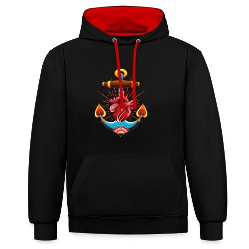 Sailor's Heart - Tattoo design - Sweat-shirt contraste