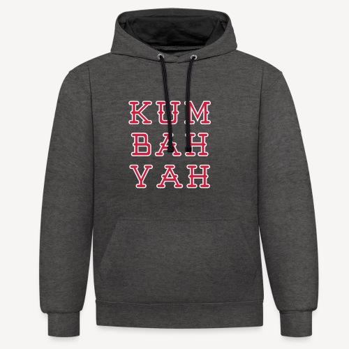 KUM BAH YAH - Contrast Colour Hoodie