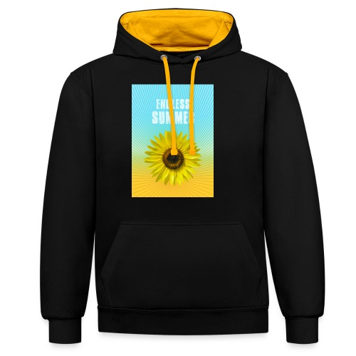 sunflower endless summer Sonnenblume Sommer - Contrast Colour Hoodie