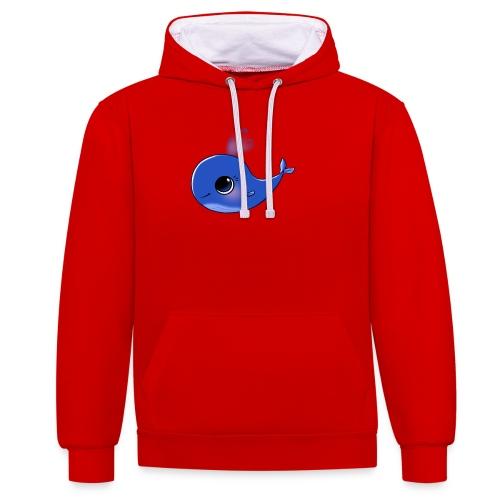 Mini Whale - Contrast Colour Hoodie