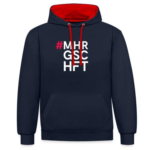 #MHR GSCHFT - Kontrast-Hoodie