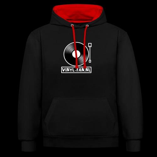 Vinyl-fan.nl - Contrast hoodie