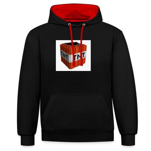 tnt block - Contrast hoodie