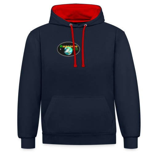 awesome earth - Contrast Colour Hoodie