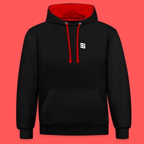 Black clothes - Contrast Colour Hoodie