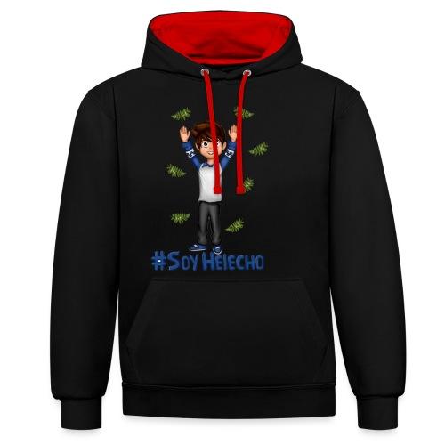 #SoyHelecho - Sudadera con capucha en contraste