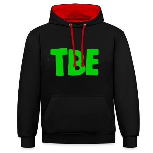 Logo groen - Contrast hoodie